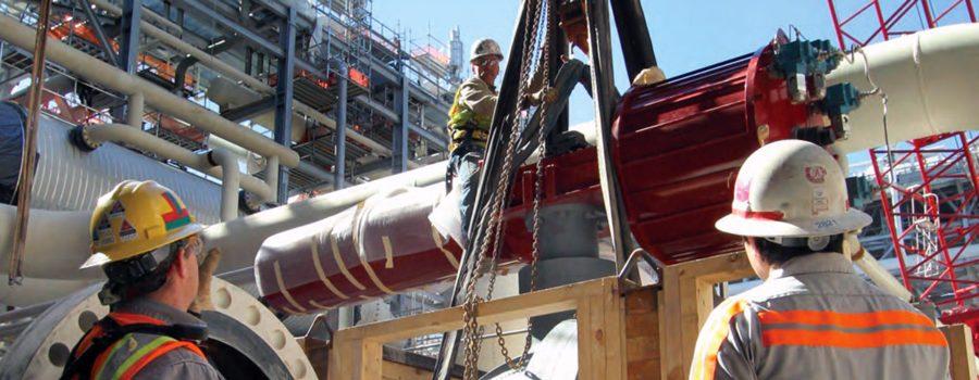 LNG project under construction.