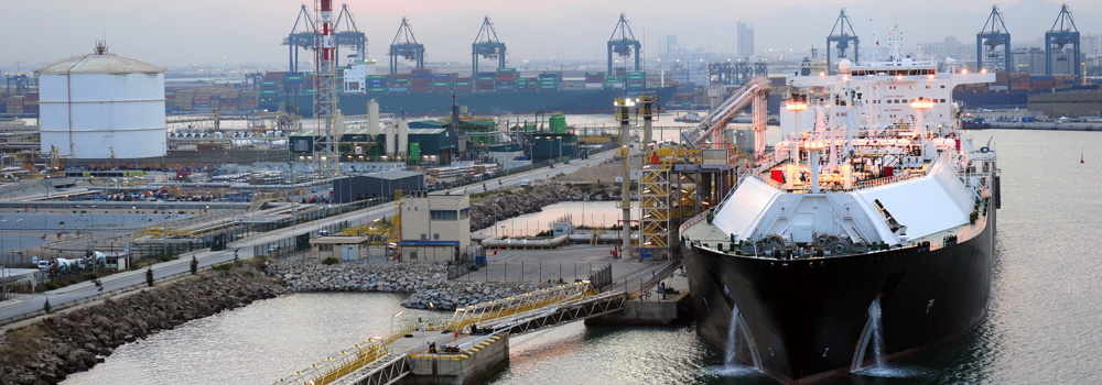 LNG Ship in Singapore