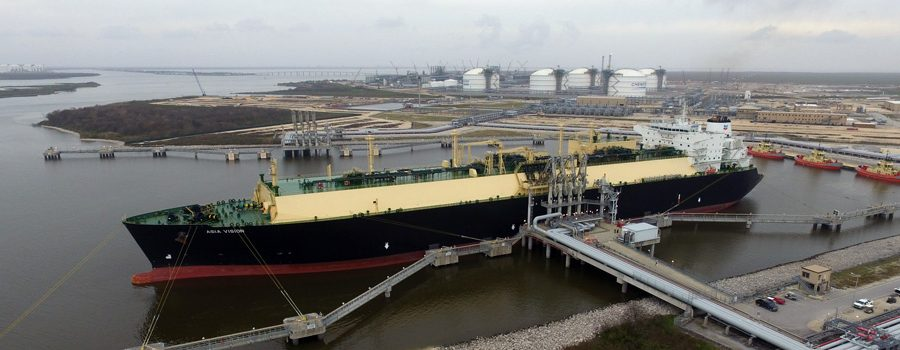 First export cargo Sabine Pass